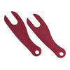 Red Cycling Products Theft Proof Set rosso/argento